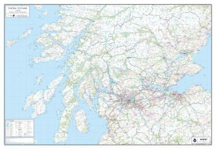 Central Scotland - Wall Map